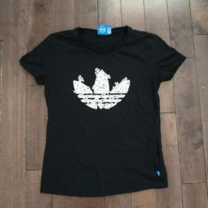 Adidas Trefoil Black short sleeve Tshirt size m